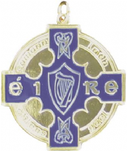 Gold 50mm Enamelled GAA Medal